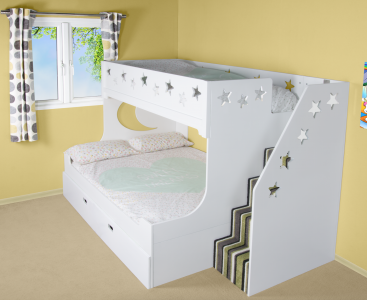 Deluxe Funtime Bunk Bed Shorty | Bunk beds, Shorty bunk ...