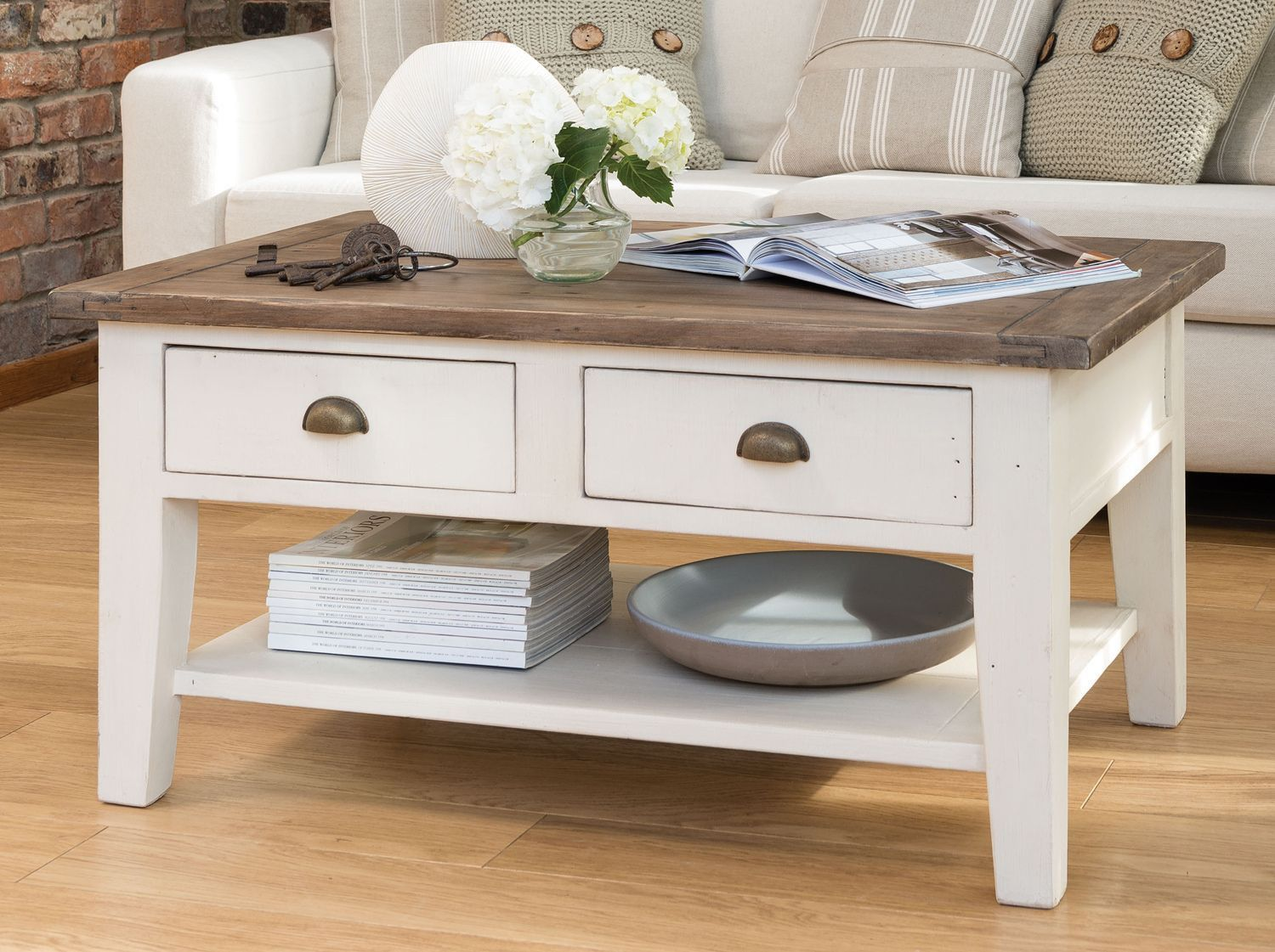 77 White Cottage Style Coffee Table Cool Apartment Furniture