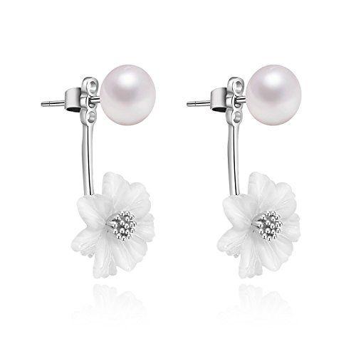 YAN & LEI Sterling Silver Freshwater Cultured Pearl Stud Earrings r7OGdwKof