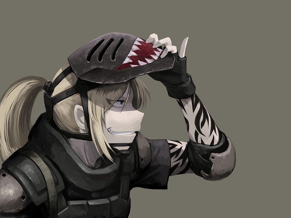 armor blonde hair gloves hellshock mask original pointed ...