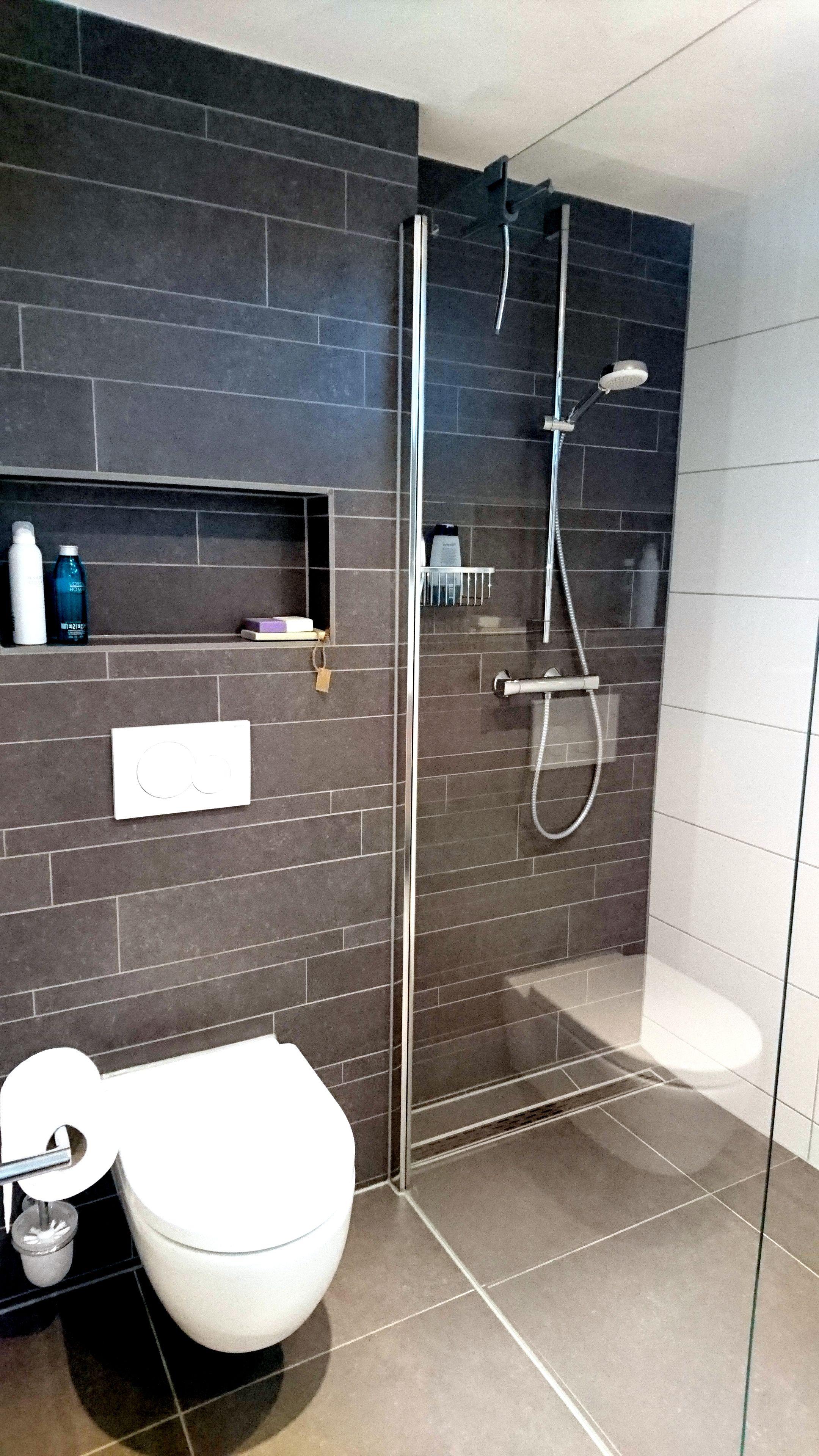 Huis inrichten 2019 » kleine badkamer met douche en toilet | Huis ...