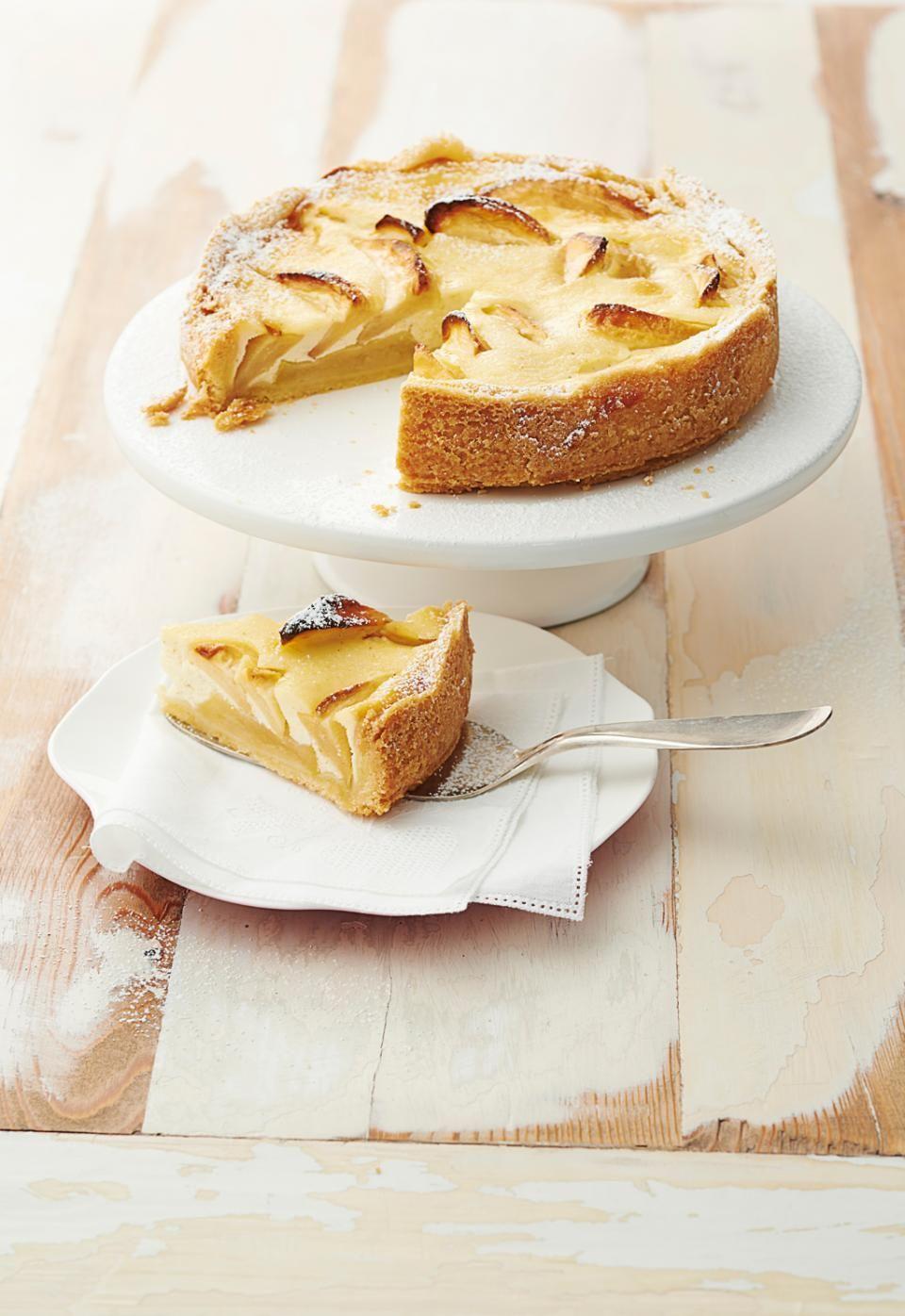 Kleiner Apfel Schmand Kuchen Rezept Rezepte Pinterest Kuchen