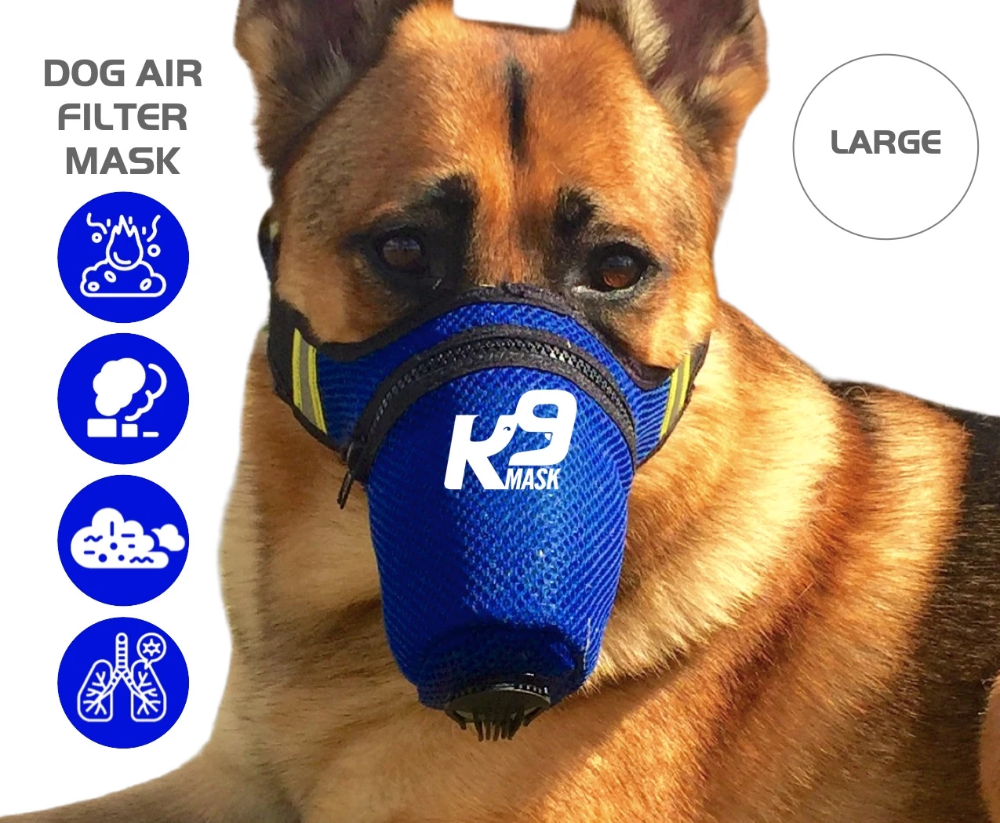 K9 Mask Pure Air X1 Dog Air Pollution Filter Mask Large In