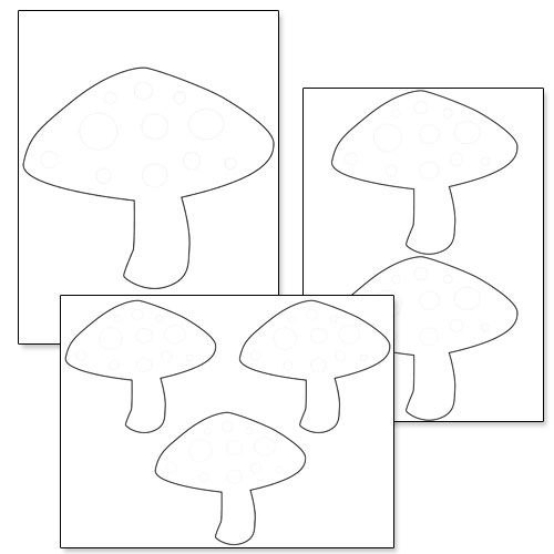 Printable Mushroom Template from PrintableTreats Shapes and