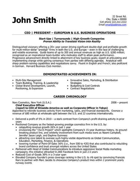 Click Here to Download this CEO President Resume Template! http - chief executive officer resume