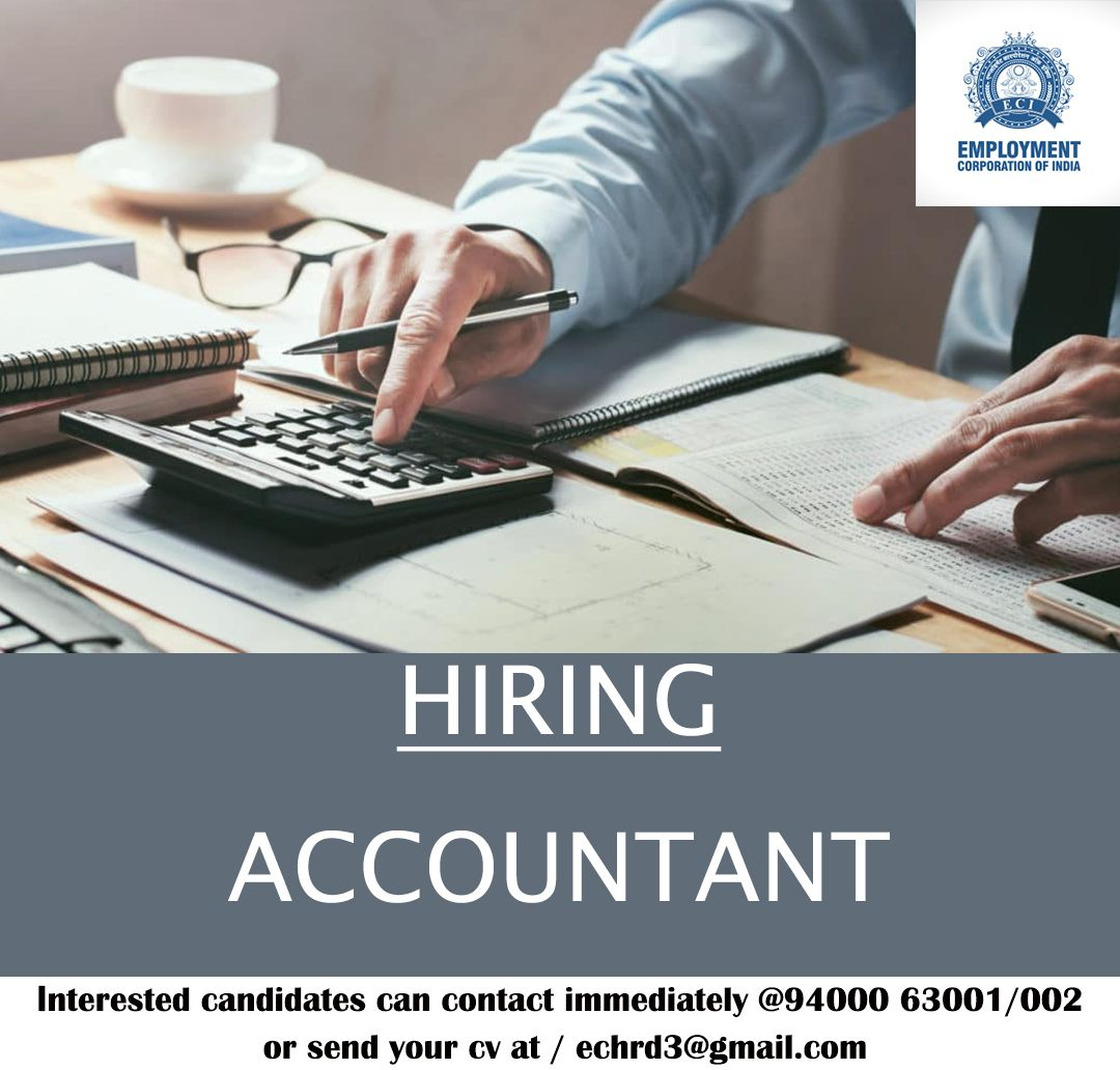 Accountant Salary 16k To 20k Experience 6 To 1 Year Time 1 00