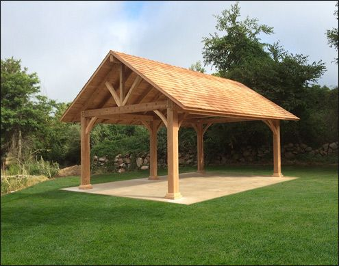 Custom 20 X 30 Large Timber Cedar Pavilion In 2020 Gazebo Large Backyard Landscaping Pavilion Plans
