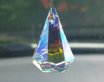 Crystal Raindrop Swarovski Suncatcher Crystal Car Charm Rear