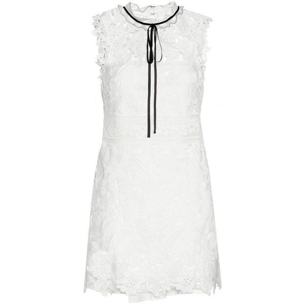 Self-Portrait Lace Mini Dress (€350) liked on Polyvore ...