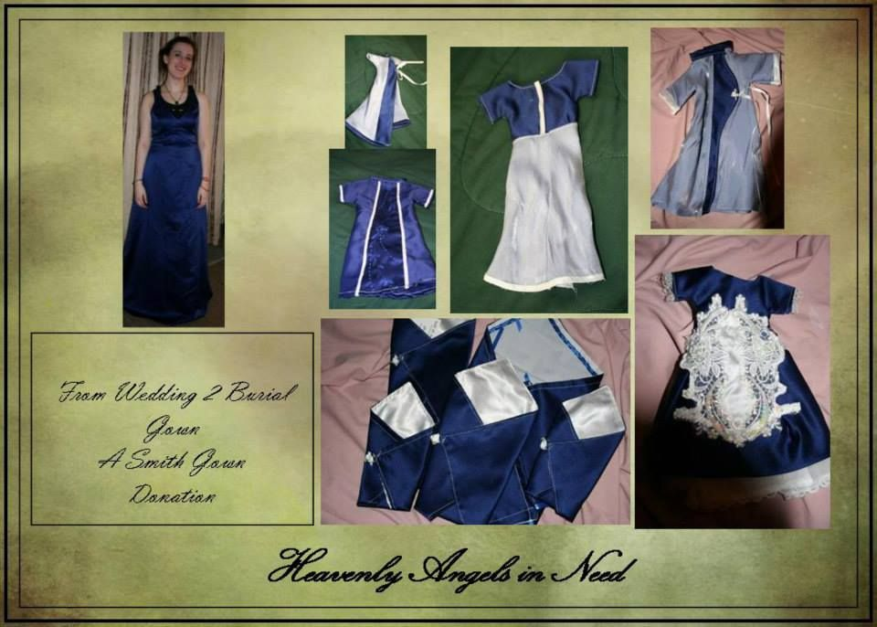 Wedding Gown 2 Burial Garments. We no longer accept gown donations due to the number that poured in when we first requested these donations. HAIN was one of the very first organization to adopt this type of donation for this purpose. heavenlyangelsinneed.com