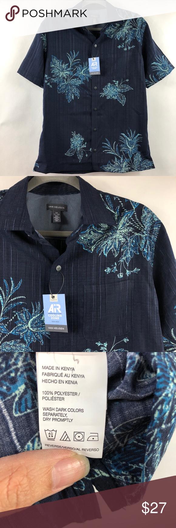 Van Heusen Air Cooling Non Iron Casual Dress Shirt Nwt With Images Shirt Dress Casual Shirt Dress Casual Button Down Shirts