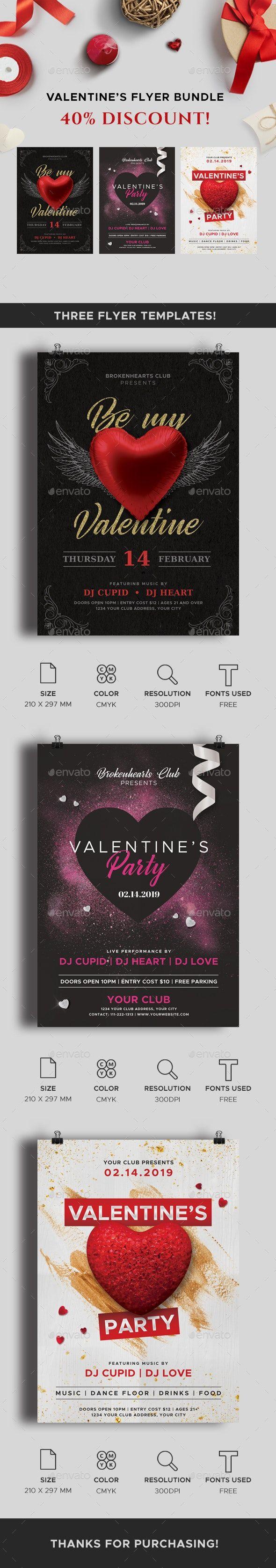 Valentines Day Flyers Bundle