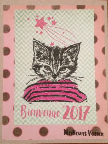 Chat marin avec tampons Chou & Flowers