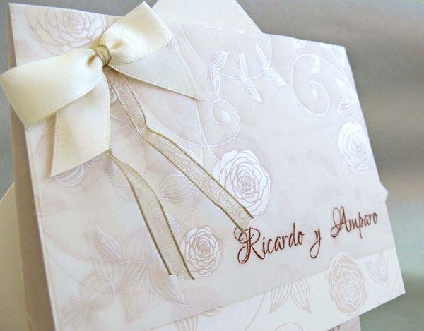 finas tarjetas de boda