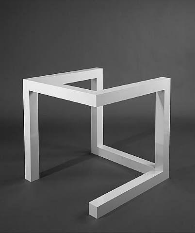 Sol LeWitt 1974, Incomplete Open Cube