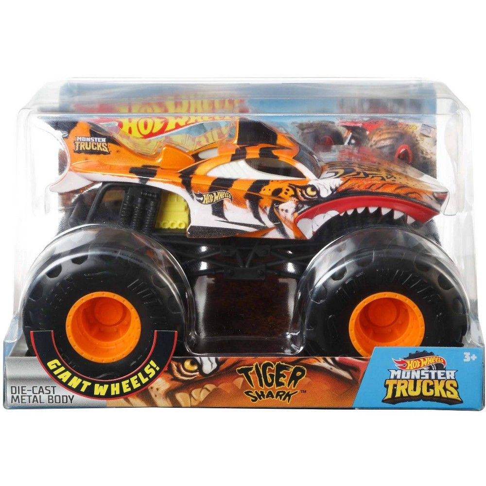 Hot Wheels Monster Trucks Tiger Shark Vehicle Monster Trucks Hot Wheels Trucks