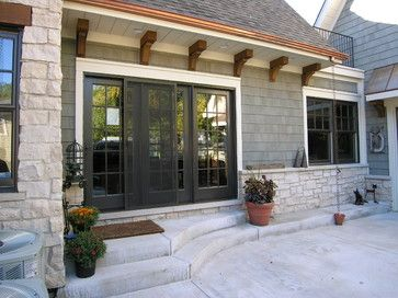Painted Soffit Design Ideas Pictures Remodel And Decor French Doors Exterior Window Trim Exterior Exterior Design