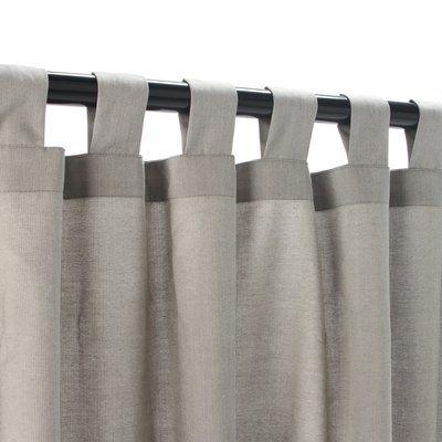 Longshore Tides Burson Outdoor Single Curtain Panel Size Per Panel 50 W X 84 L Sunbrella Outdoor Curtains Outdoor Curtains Curtains
