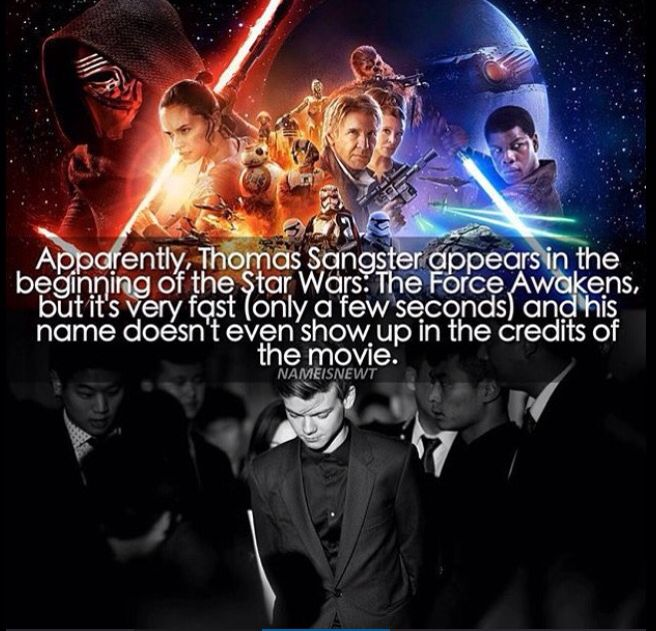 Thomas Sangster Appears In Star Wars Force Awakens True It S On His Imdb Thomas Sangster Force Awakens Maze Runner