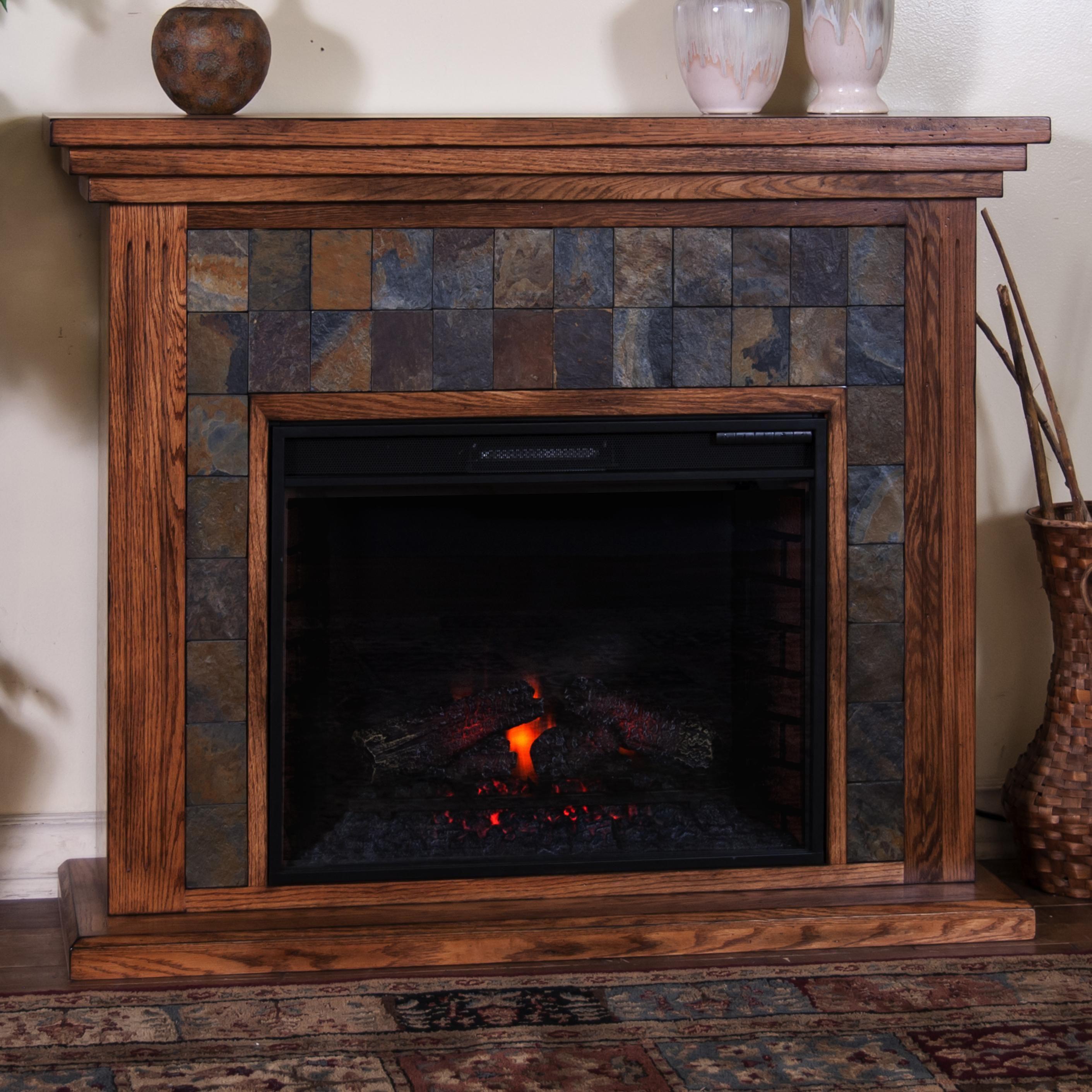 Sedona Fireplace Media Console w/ 28 - conlin's furniture