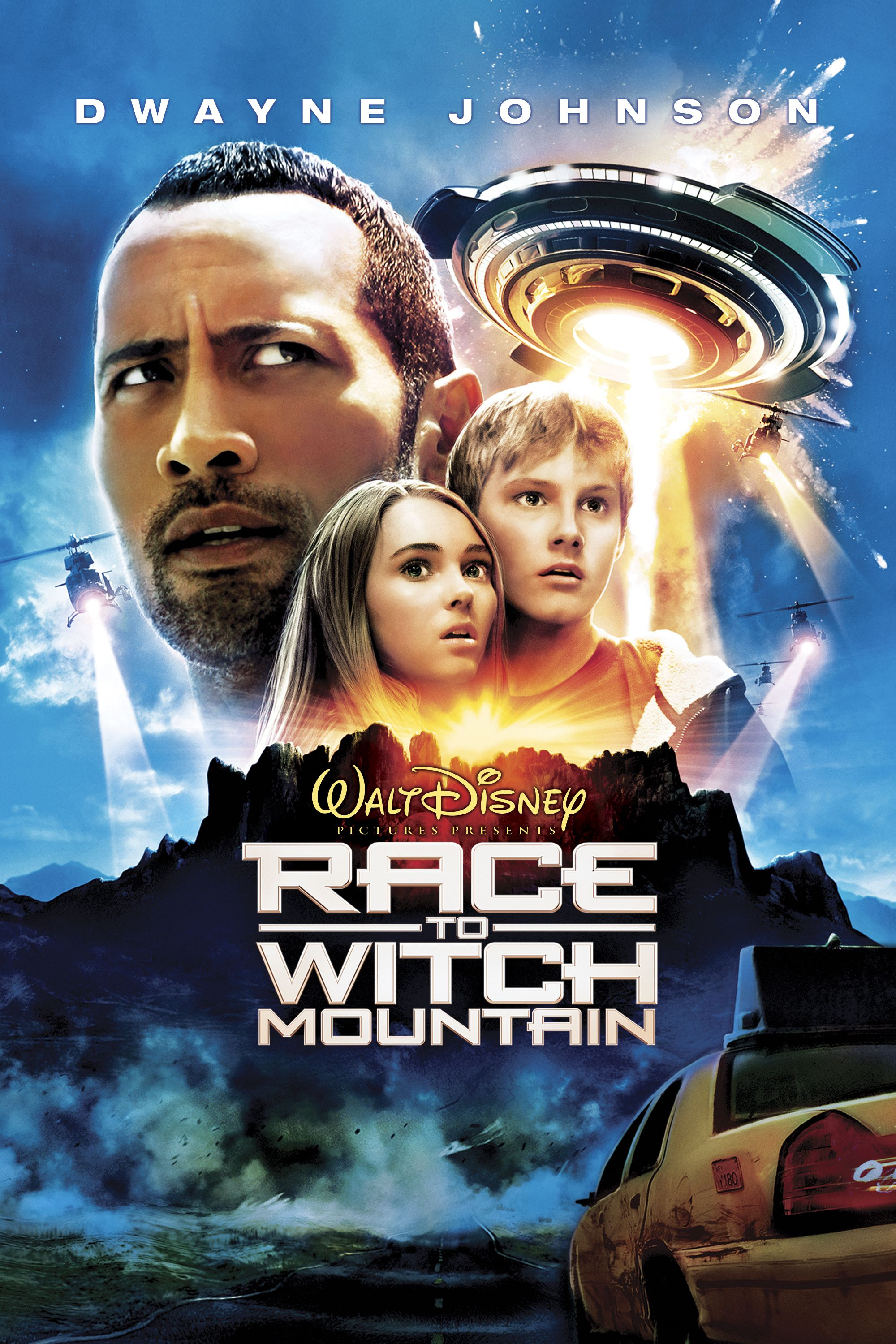 Race To Witch Mountain Poster Artwork Dwayne Johnson Annasophia