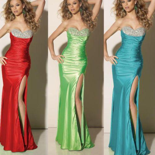 Sweetheart Beaded Bust Slit Sheath Prom Gown #ShopSimple ...