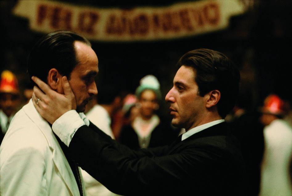 Steve Schapiro The Kiss Michael And Fredo Godfather Ii 1973