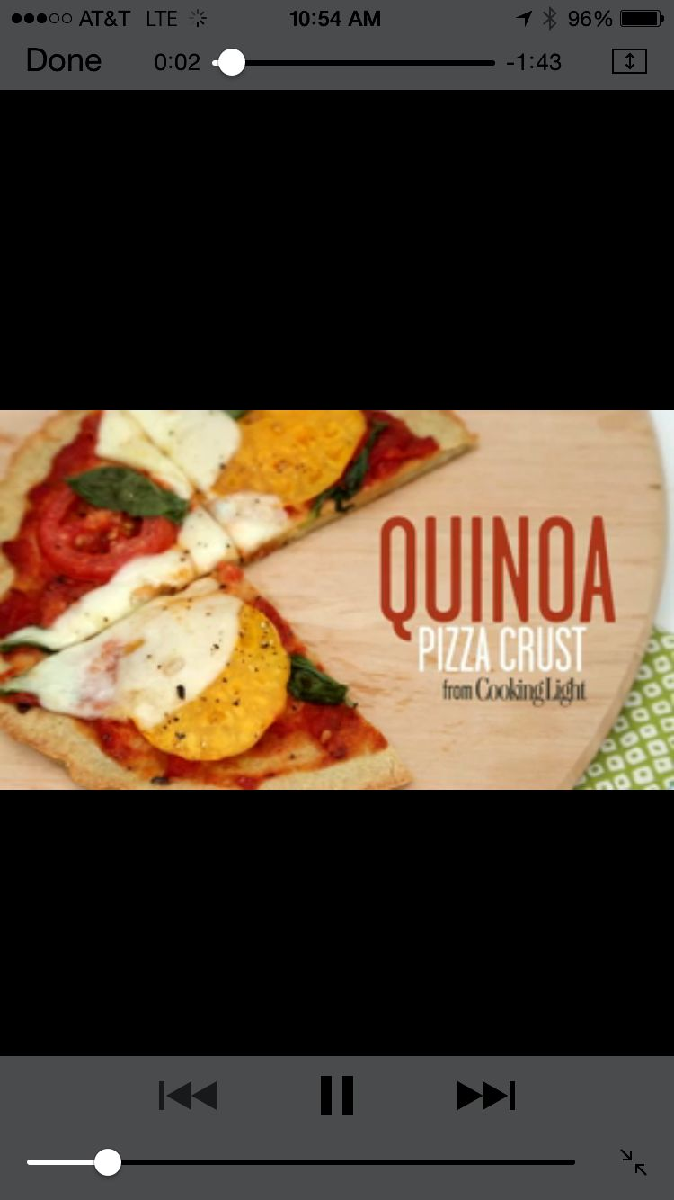 Quinoa Pizza Crust | Cooking Light