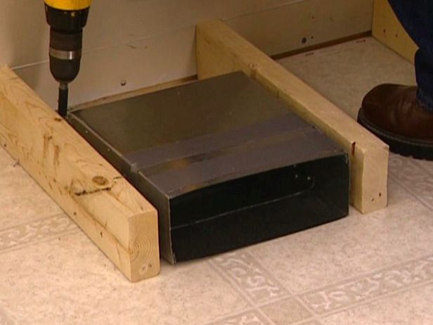 redirecting a floor vent for a banquette -use this method for