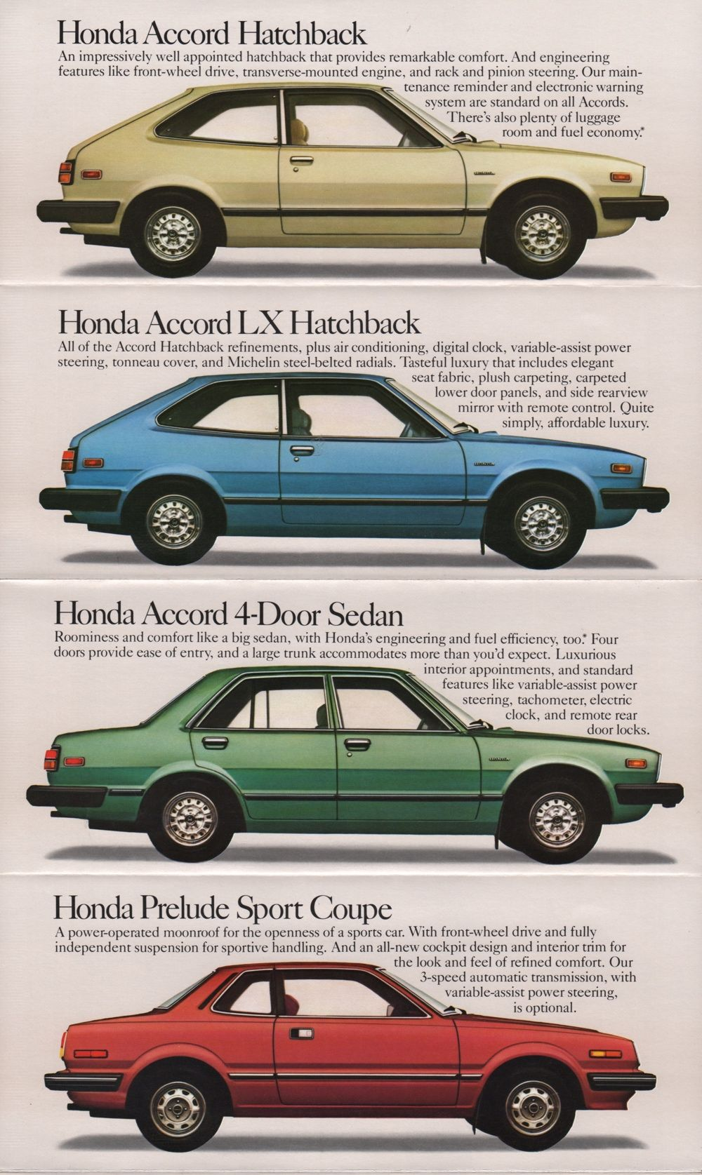 1981 Honda Sales Brochure Vintage Japanese Autos Pinterest Corvette Door Lock Controls Parts Accessories For Cars Bikes Motors
