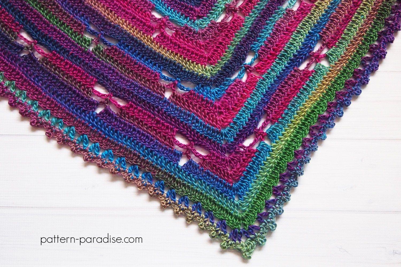 free crochet pattern for dragonfly bandana cowl scarf wrap on ...