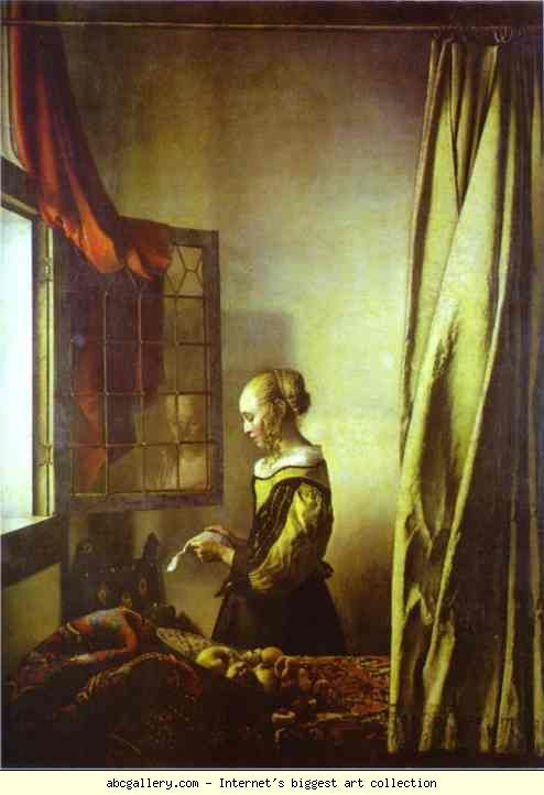 Jan Vermeer. Girl Reading a Letter at an Open Window. 1657