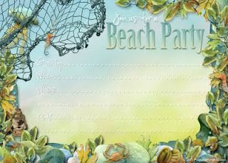 Party Planning Center Free Printable Beach Themed Party Invites