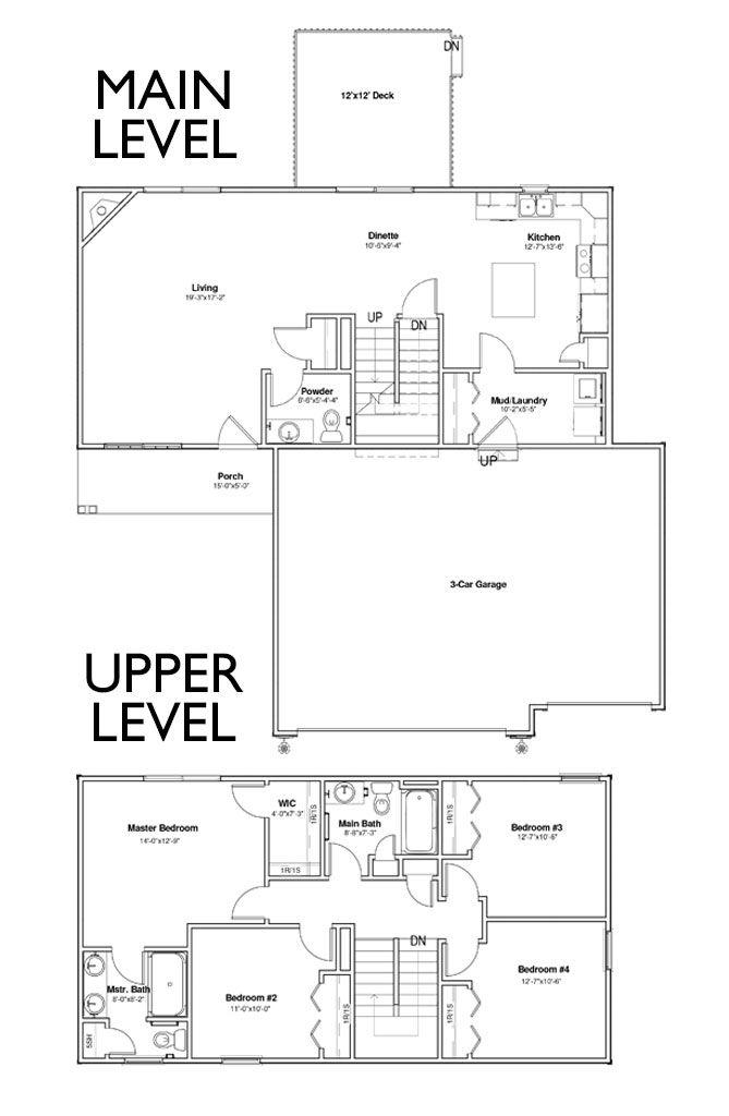 Palmer 2 Story Floor Plan