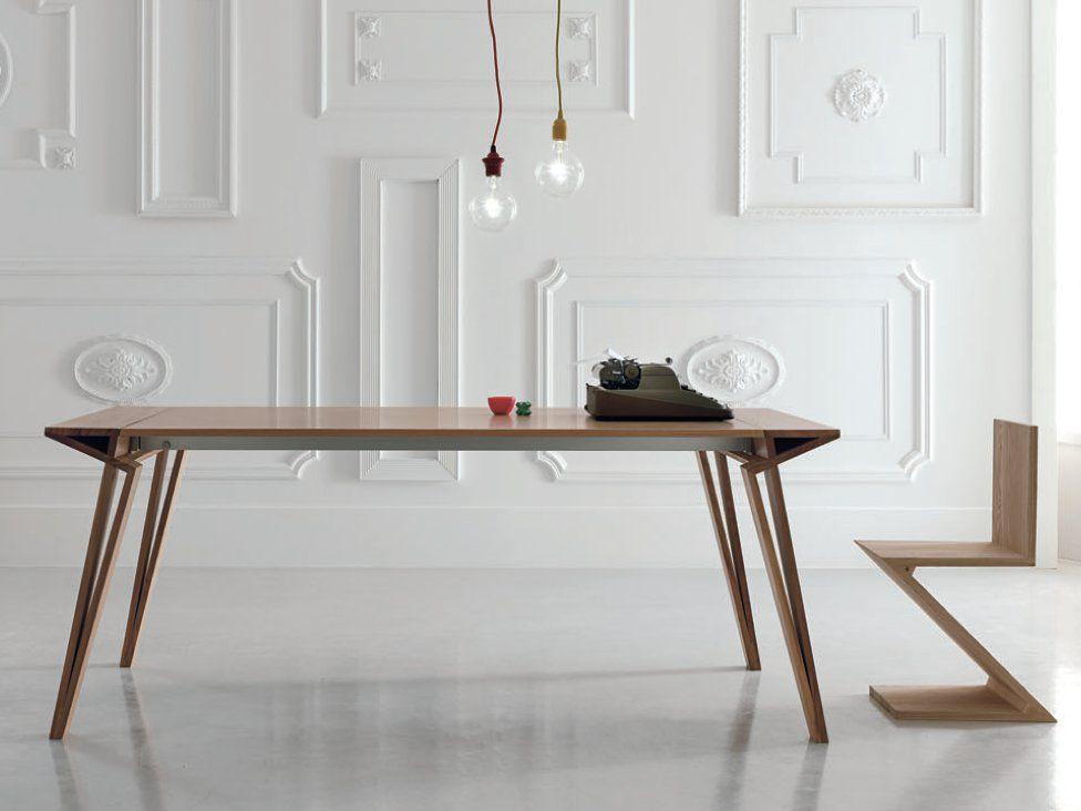 Tavolo allungabile laccato rettangolare in legno OBLIQUE by ALIVAR ...