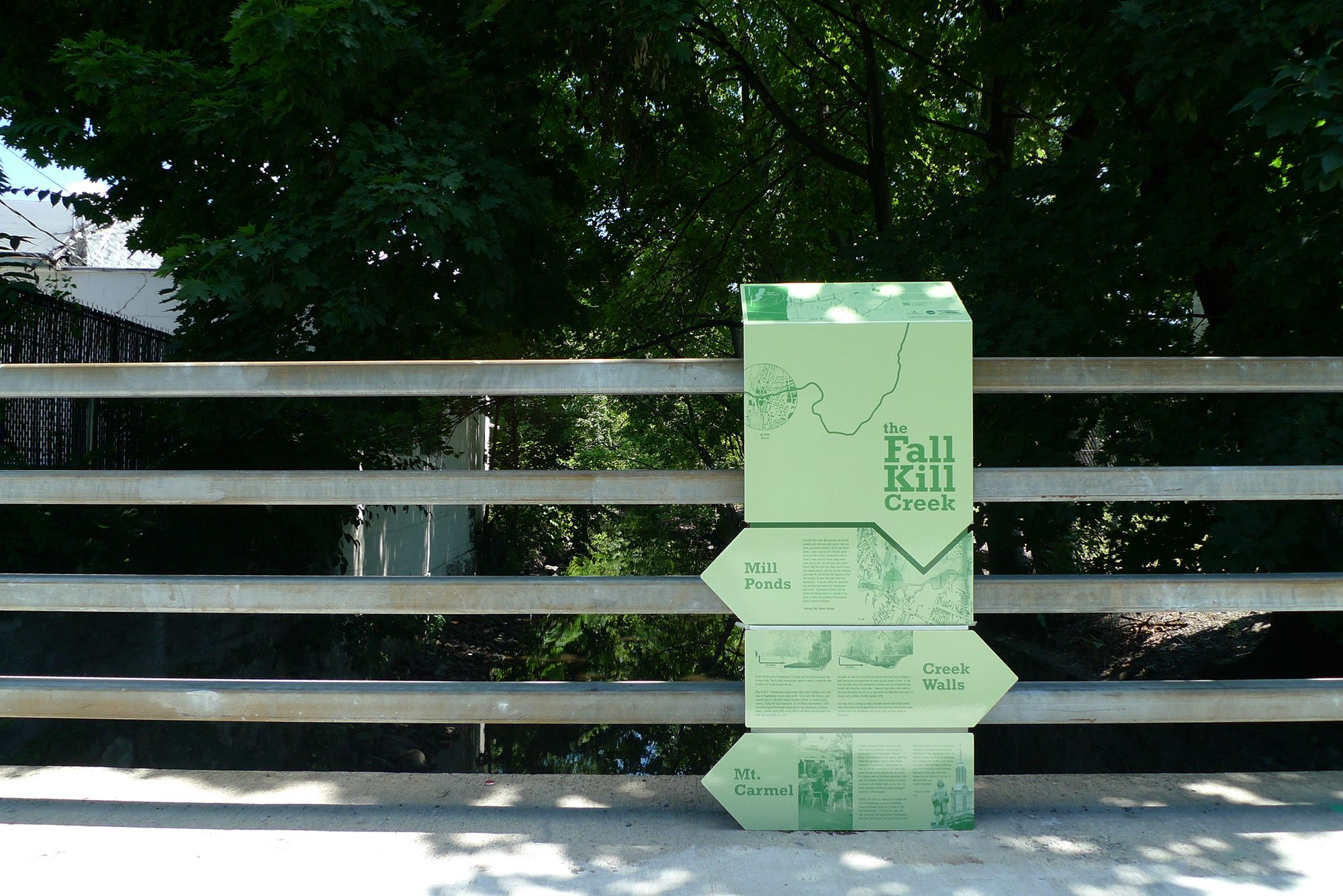 Fall Kill Creek Signage Installation Urban Landscape Lab Columbia Abstract Landscape Projects Landscape Landscape Design