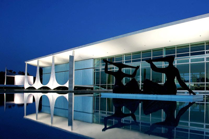 ... : EL PALACIO DE LA ALBORADA (ALVORADA) UNA OBRA GENIAL DE NIEMEYER  #architecture #oscarniemeyer Pinned by www.modlar.com