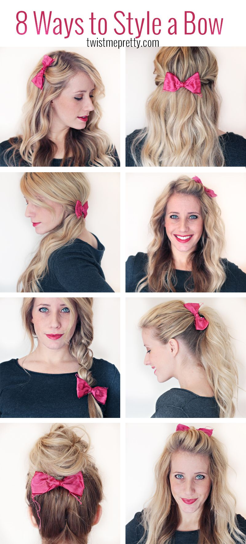 8 ways to style a bow pretty hairstyles hair styles