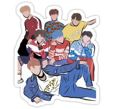 Bts Sticker Em 2020 Adesivos Bonitos Desenhos Adesivos