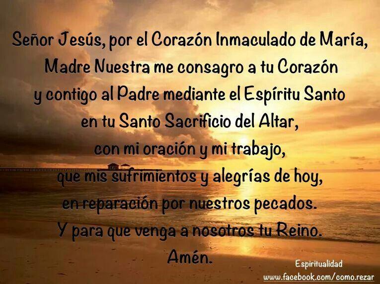 Consagración al Corazón de Jesús.