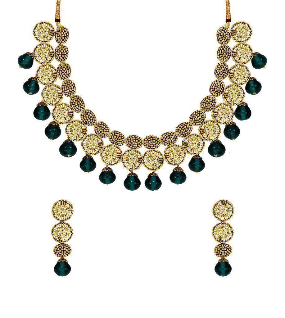 Fine detailed ethnic necklace set zpfk zaveri pearls