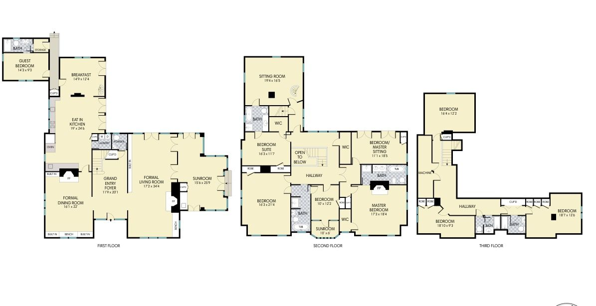 Grey Gardens floor plan 2017 in 2019 | Grey gardens house ...
