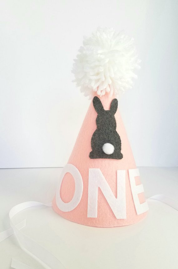 Bunny first birthday hat girl/'s bunny hat pink bunny hat girl/'s first birthday hat