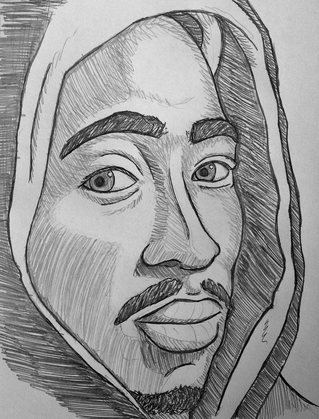 Pencil Drawings Of Tupac Drawings Art Cute Couple Drawings [ 1345 x 1024 Pixel ]