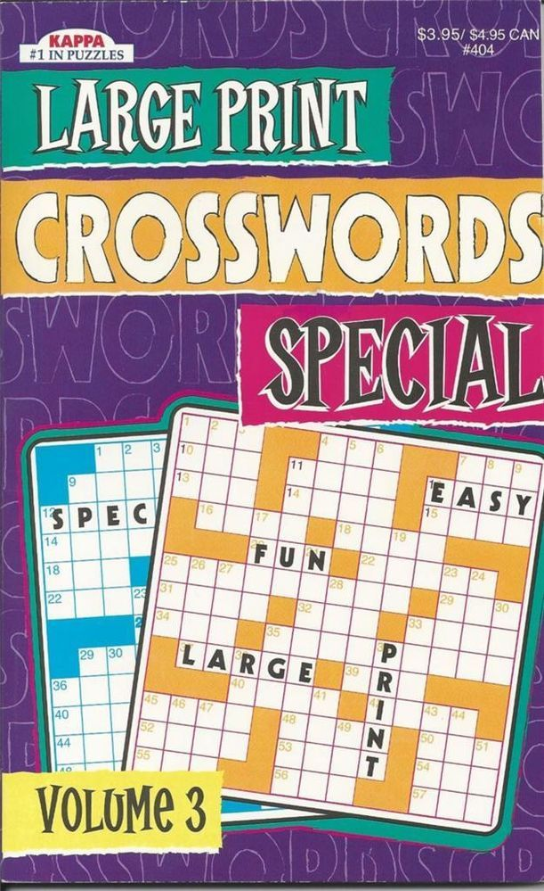KAPPA LARGE PRINT SPECIAL CROSSWORDS FUN PUZZLE BOOK VOLUME 3 NEW  sc 1 st  Pinterest & KAPPA LARGE PRINT SPECIAL CROSSWORDS FUN PUZZLE BOOK VOLUME 3 NEW ... 25forcollege.com