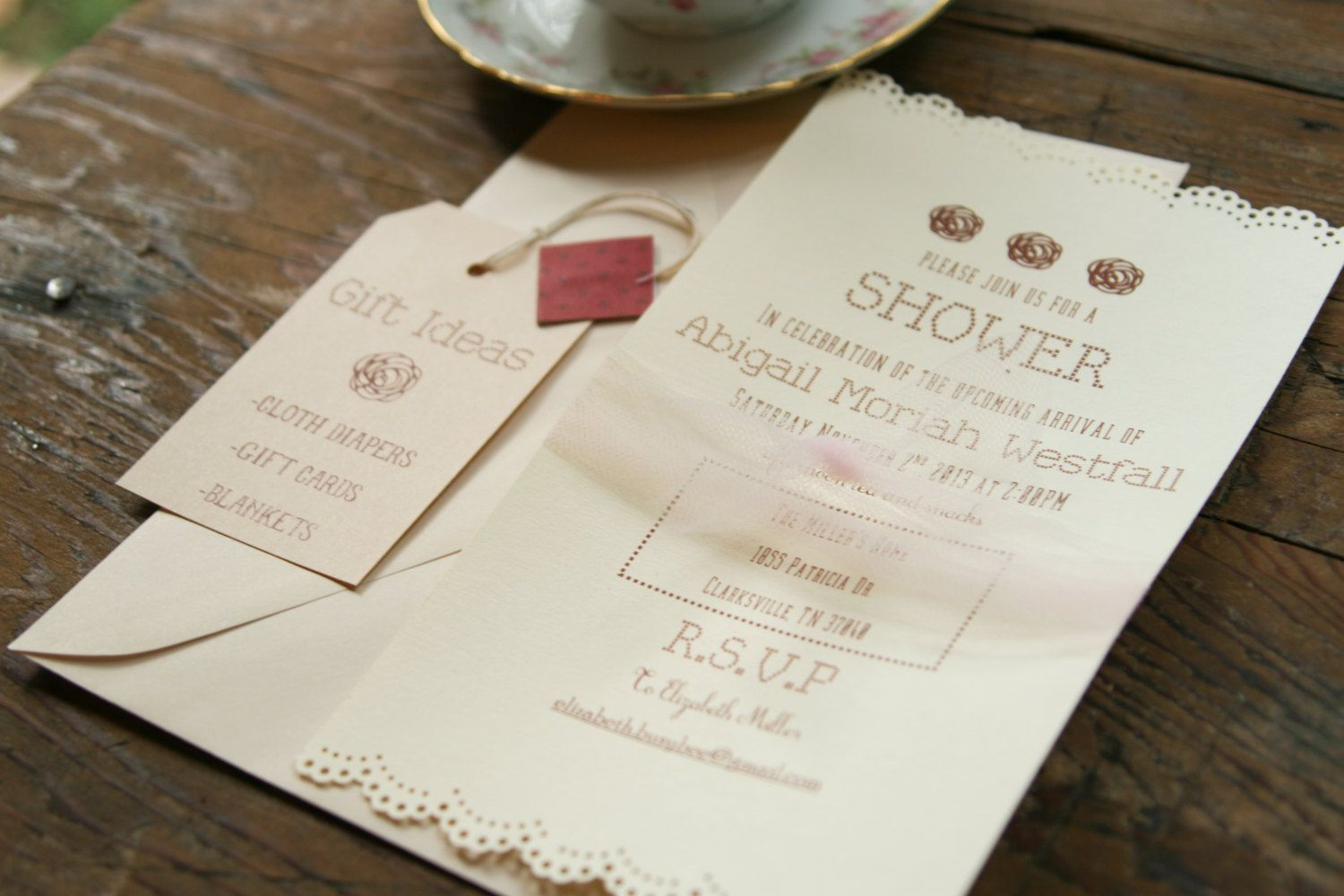 wedding shower invitations omaha%0A Baby shower Bridal shower tea party invitation by ameasuredgift          i  n v i t e d   Pinterest   Bridal shower tea  Tea party invitations and Tea
