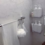 Bathroom/無印良品/ボディタオル/ひっかけるワイヤークリップ/PET詰替ボトル