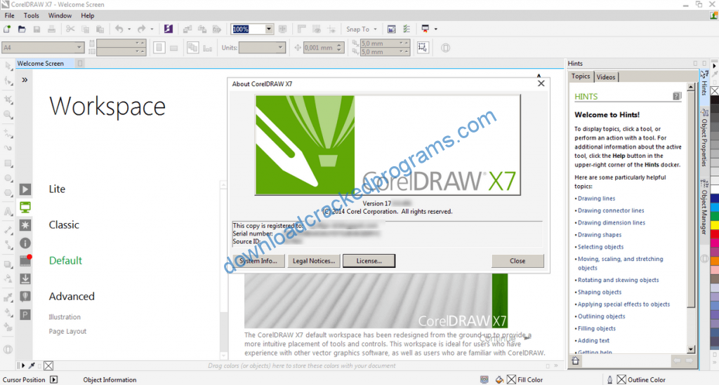 corel draw x7 free download with crack