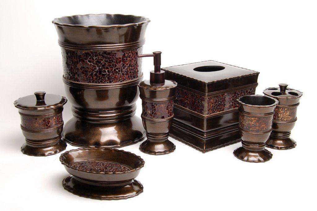 Modern Bathroom Accessories Bronze Set