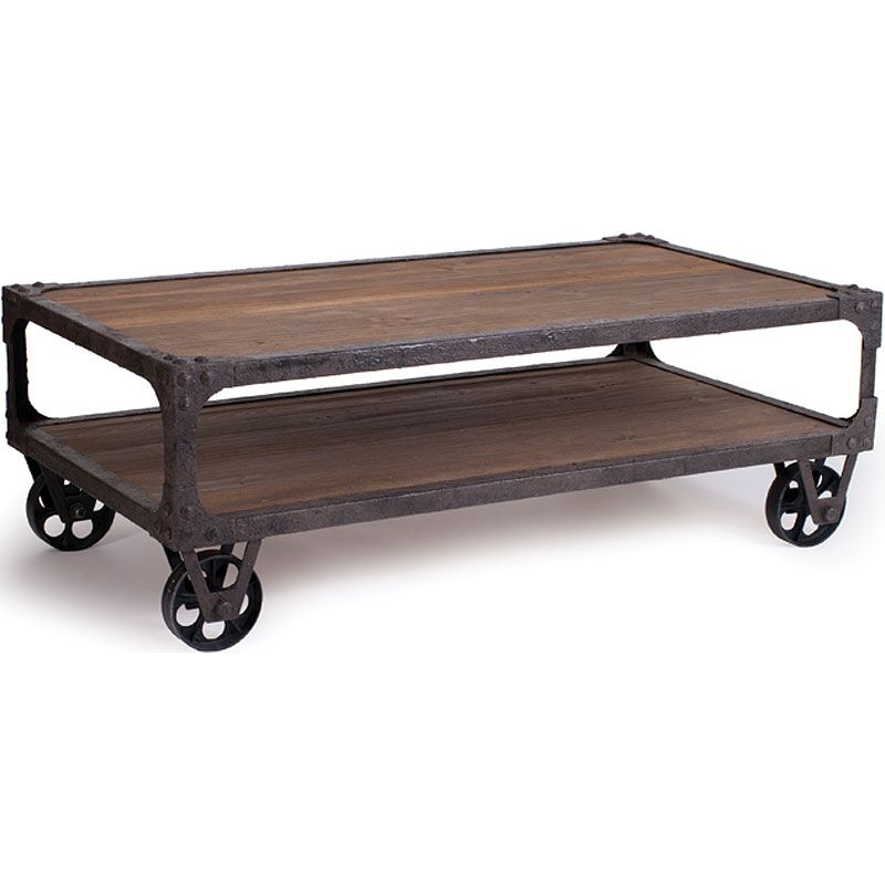 Rustic Coffee Table Like This Too Rustic Industrial Coffee